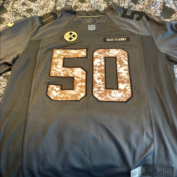 746038533 Authentic Pittsburgh Steelers Jersey  50 Shazier